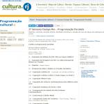 Cultura.rj anunciando a exposição dos projetos da Puc-Rio