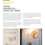 Tintas orgânicas / carta da terra