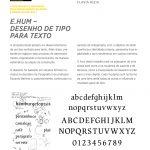 e.hum - desenho de tipo para texto